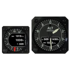 Altimetro rotondo autonomo (master) con pressione internasensori. Due aghi + display LCD a colori.
